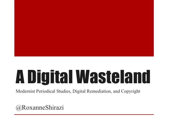 First slide image of Digital Wasteland presentation